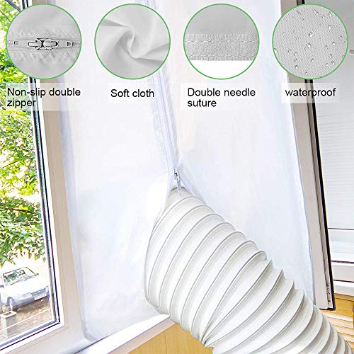 400CM Universal Window Seal for Portable Air Conditioner and Tumble Dryer, Compatible with All Mobile Air Conditioning Unit, Easy to Install, No Need for Drilling Holes - Shoppersbase