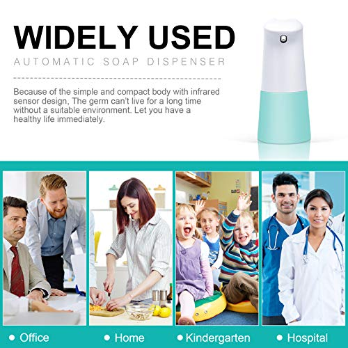 TESEU Soap Dispenser Automatic Touchless Soap Dispensers 250ml Sensor Soap Dispenser Pump with Waterproof Base Electric Soap Dispenser Liquid Soap Dispensers for Bathroom and Kitchen - Shoppersbase