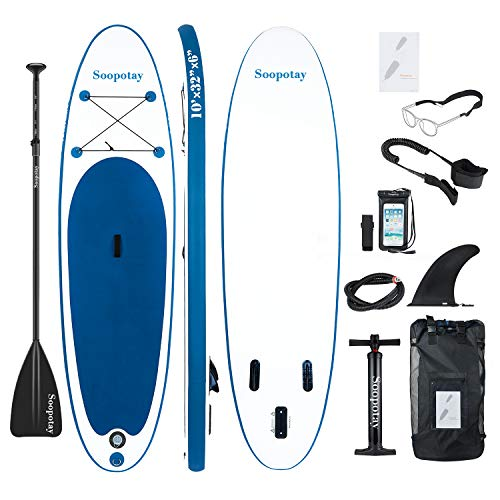 Inflatable SUP Board, Stand-Up Paddle Board, Sup Paddle Board, iSUP Package with All Accessories, All round navy blue-305 x 81 x 15cm - Shoppersbase