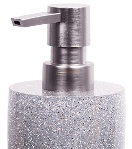 Premium Soap Dispenser | Wide Choice of Beautiful Lotion Dispenser | Easy to Refill | Nice eyecatcher (Glittering Silver) - Shoppersbase