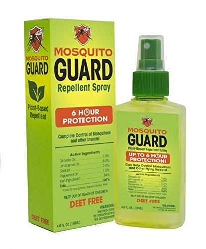 Mosquito Guard Repellent Spray (4 FL Oz) Made with 100% All Natural Plant Based Ingredients - Citronella, Lemongrass Oil, NON- TOXIC, NO DEET. Safe for kids and adults, Insect and Bug Repellent - Shoppersbase