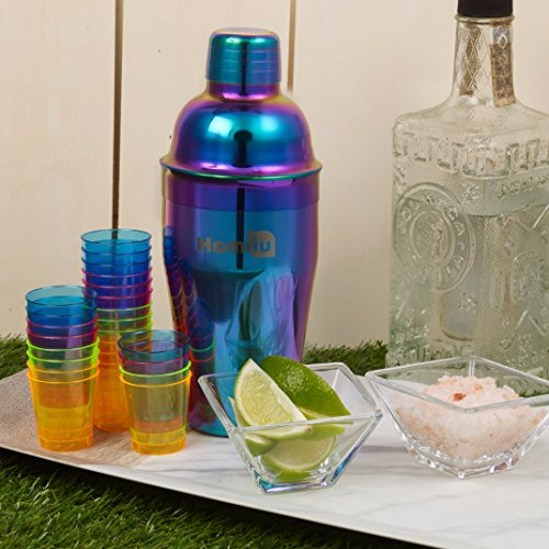 Homiu Cocktail Shakers Rainbow Approximate 550 Millilitres Capacity Stainless Steel Hand Wash Only - Shoppersbase