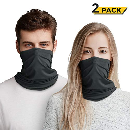 GRESAHOM Sun UV Protection Neck Gaiter, Multi Use Magic Face Fishing Cover Dust Wind Bandana Balaclava Headwear for Women Men, Dark Grey - Shoppersbase