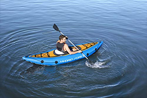 Bestway BW65115 Hydro-Force, Cove Champion Kayak with Oar, 1 Person Capacity, Colour - Shoppersbase