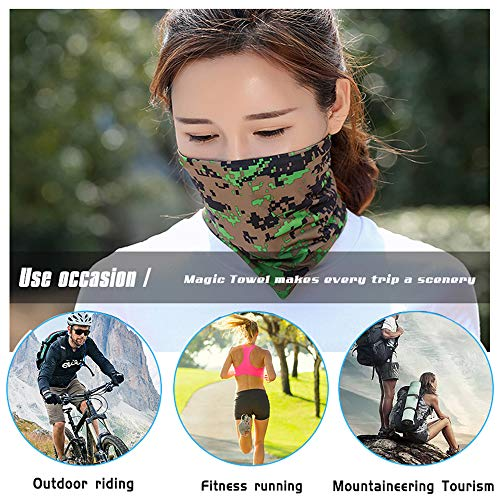 Ambielly Sport Headband Bandana - Wind Dust Proof Neck Gaiter, Face Scarf - Cold Weather Balaclava - Headwrap (016) - Shoppersbase