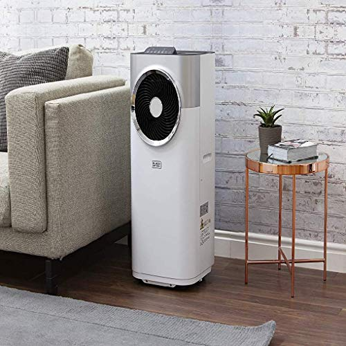BLACK+DECKER BXAC40007GB 10,000 BTU Portable 3-in-1 Air Conditioner, Dehumidifier, Cooling Fan, LED Display, 3 Fan Speed, 24 Hour Timer, Remote Control, White - Shoppersbase