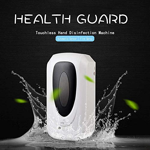 Bebester Touchless Hand Sanitizer Dispenser Automatic Wall-Mounted Liquid Infrared Soap Dispenser Lotion Pump Battery Operated with Cover Lock for Kitchen Countertop Bathroom 1000ML - Shoppersbase