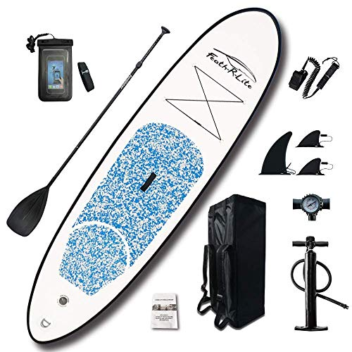 FR Inflatable Stand Up Paddle Board 10ft / 305cm SUP BoarD Ideal Beginners with Paddle, Pump, ISUP Backpack, Leash, Repair Kit, Premium Waterproof Bag Youth & Adult … - Shoppersbase