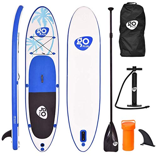 "Maxmass 11ft Inflatable Stand Up Paddle Board, 6"" Thick Non-Slip Deck SUP Set with Free Accessories and Carry Bag, 330 x 76 x 15 cm - Shoppersbase"