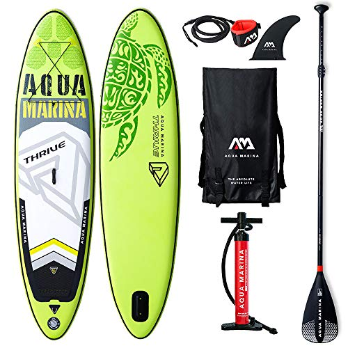 Aquamarina Thrive SUP Stand Up Paddle Board with Paddle, Leash, Magic Back Pack and Double Action Pump - Shoppersbase