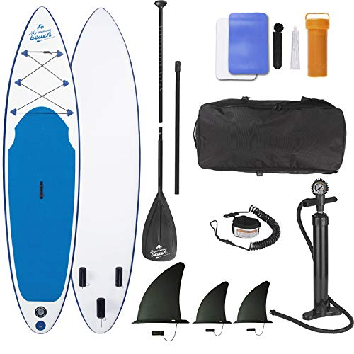 EASYmaxx Stand-Up Paddle Board 'My private Beach' in premium quality | Including carrying bag, repair kit and double lift pump, with practical carrying handle | For beginners and advanced - Shoppersbase