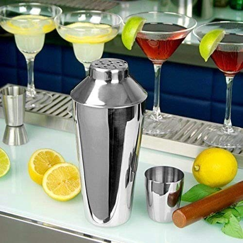 Alinea 3 Piece Manhattan Set (28 oz / 795ml-26cm Tall) Cocktail Shaker with Built in Strainer, Stainless Steel, 2 - Shoppersbase