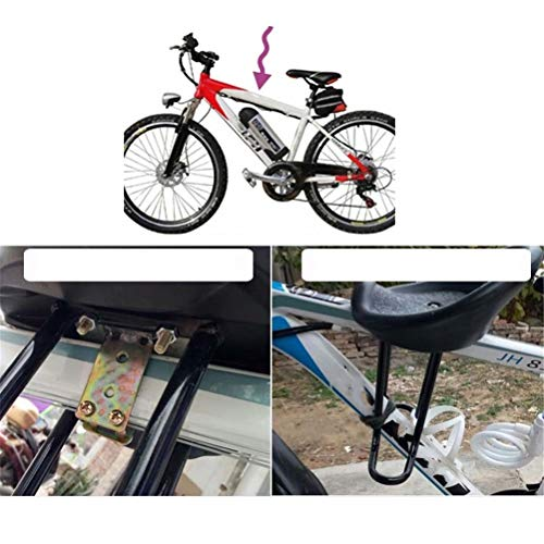 GFYWZ Mountain Bicycle Child Front Seat Back Child Baby Safe Seats Black - Shoppersbase