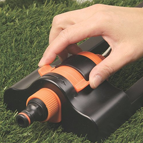 Lawn Bar Sprinkler, Adjustable and Oscillating + Free nozzle cleaning tool attached - Shoppersbase