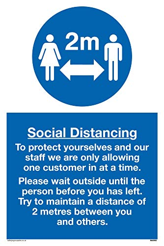 Viking Signs Social Distancing sign - Plastic Rigid 3mm - Shoppersbase