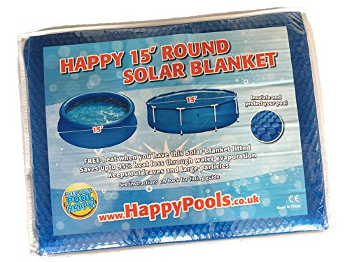 Happy Hot Tubs Deluxe Swimming Pool 15ft Thermal Solar Cover for Frame Above Pools - Shoppersbase