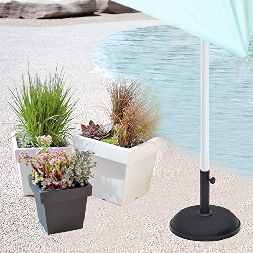 11kg Heavy Duty Concrete Round Umbrella Parasol Base Stand Outdoor Garden Patio by Crystals® - Shoppersbase