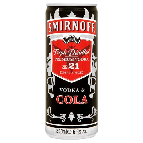 Smirnoff & Cola Vodka Pre Mixed Cans (12 x 250ml) - Shoppersbase