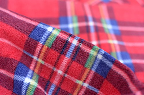 Red Tartan Folding Portable Waterproof Fleece/PEVA 120x150cm Picnic Beach Camping Blanket Rug Cover Mat - Shoppersbase