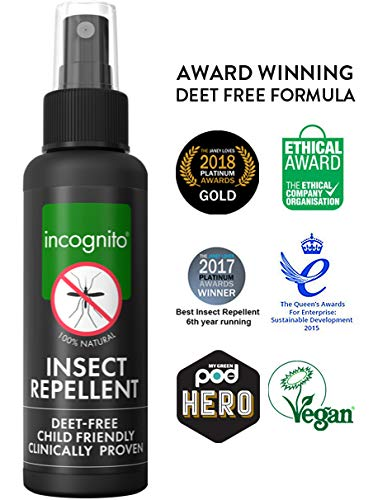 incognito Insect Repellent Spray - 2 x 100ml - Natural, DEET free formula - Shoppersbase