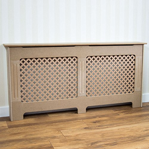 Vida Designs Oxford Radiator Cover Traditional Unfinished Unpainted MDF Cabinet Grill, Medium - Shoppersbase
