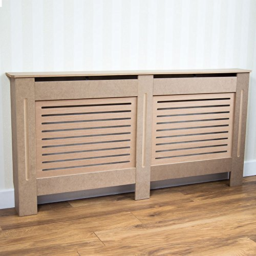 Vida Designs Milton Radiator Cover Modern Unfinished Unpainted MDF Cabinet Grill, Large - Shoppersbase
