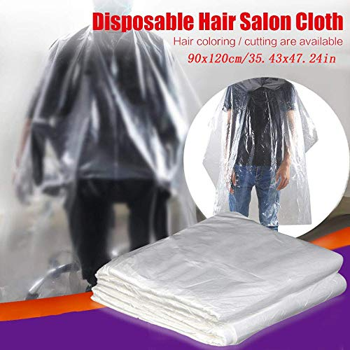 Disposable Hairdressing Capes Plastic Hair Cutting Aprons Transparent Waterproof Barber Haircut Gowns Hair Salon Capes Home Barber Cover For Adult Kids(35.43'' X 47.24''),20pcs - Shoppersbase