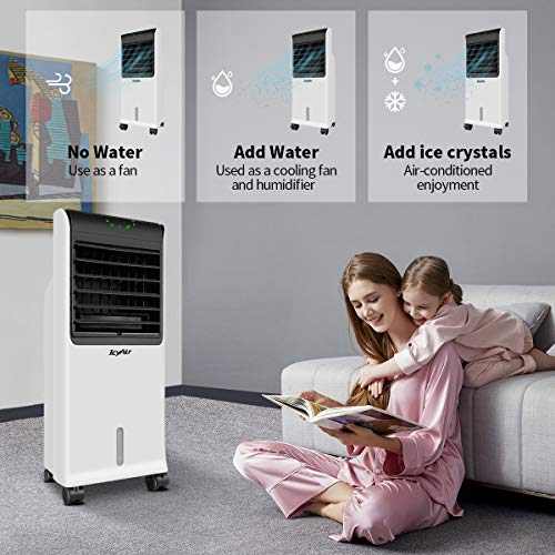 Mobile Air Conditioning, Quiet Mobile Air Cooler with Ice Tray & Remote Control, Low Energy with Fan & Humidifier, Conditioning for 350 Square Feet, 8-Hour Timer Function, Suitable Home Office AC - Shoppersbase
