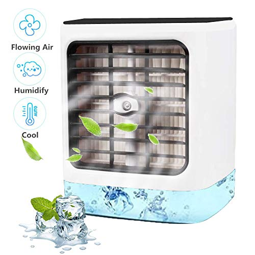 Nifogo Air Cooler, Mobile Conditioners, Leakproof Portable Mini Personal Space Humidifier&Purifier, 3 WIND SPEED,für Schlafzimmer Wohnzimmer Büro Reise - Shoppersbase
