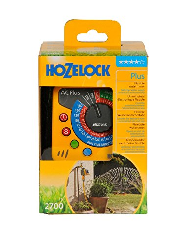 Hozelock Automatic Water Computer Timer Plus - Yellow and Grey - Shoppersbase