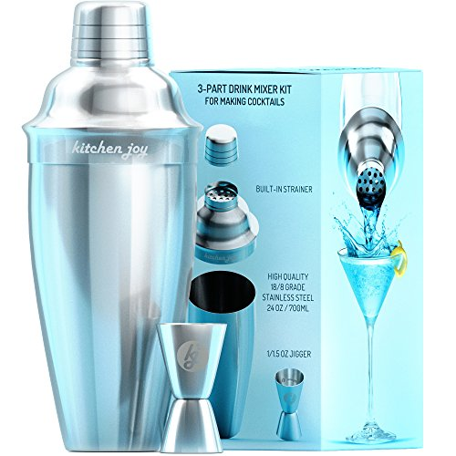Kitchen Joy 2 Barware Set Premium Bundle with Jigger Built-in Strainer 24oz and Free Recipes eBook by - Shoppersbase