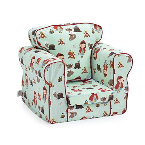 Ready Steady Bed Upholstered Kids Toddler Armchair | Comfy Children Furniture | Soft Child Safe Seat Playroom Sofa | Ergonomically Designed Chair (Little Red) - Shoppersbase