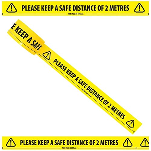 Social Distancing 2 meter Floor Marking Tape for Shops, Offices, Work Place 3 Pack - Shoppersbase
