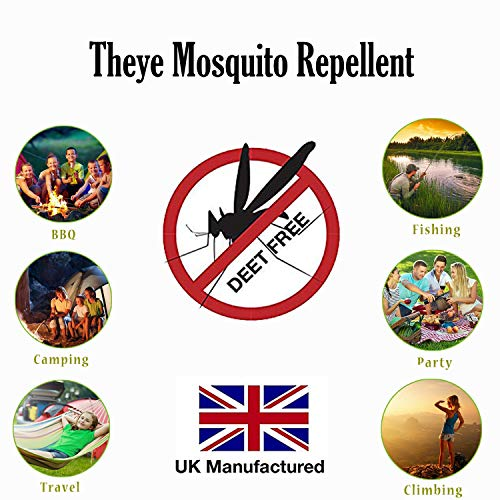 THEYE Natural Powerful Mosquito Repellent/Bug Spray 75ml | No Deet | Plant-Based & Alcohol Free | Ideal Bug Spray for Kids | Camping Essentials | No Harmful Chemicals | Horse Fly/Midge/Gnat Repellent - Shoppersbase