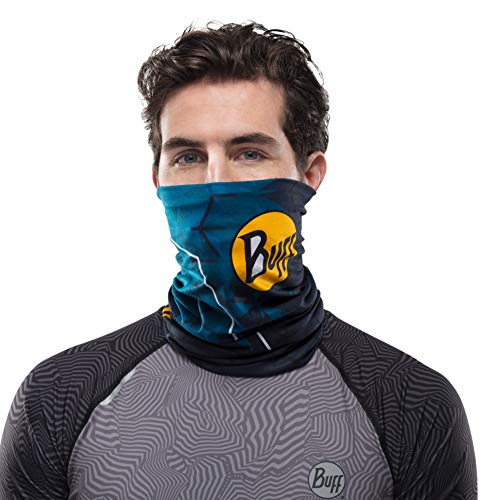 Buff Men's Proteam Helix Ocean Uv+ Coolnet, Multi-Coloured, One Size - Shoppersbase