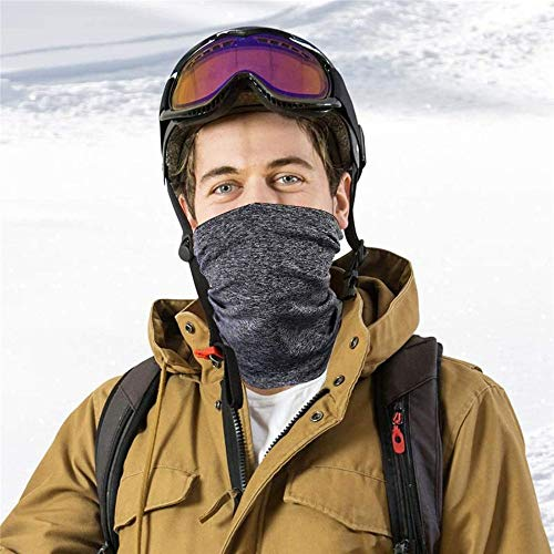 Ewolee 2 Pack Neck Gaiter with 10 Pcs Activated Carbon Filter, Multifunctional Scarf Face Cover UV Dust Wind Protection Bandana Balaclava Headwear for Men Women Fishing Hiking Cycling(Dark Grey) - Shoppersbase