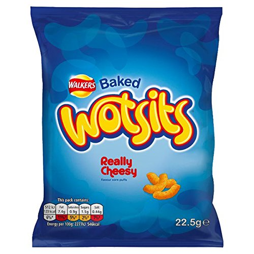 ( 32 Pack ) Walkers Baked Wotsits Really Cheesy Flavour Corn Puffs 22.5g - Shoppersbase