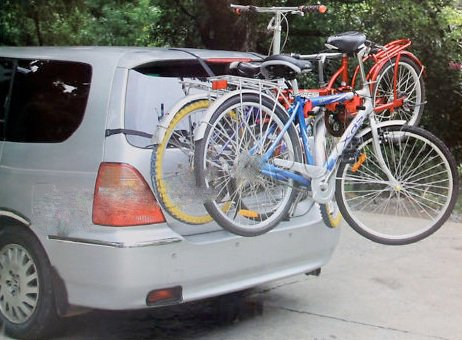 CAR CYCLE CARRIER 3 BICYCLE BIKE RACK UNIVERSAL FITTING SALOON HATCHBACK ESTATE - Shoppersbase