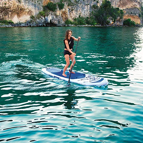 Bestway Hydro-Force Oceana Inflatable SUP Stand Up Paddle Board with Paddle, Carry Bag and Pump, Multi-Colour, 15 cm Thick - Shoppersbase