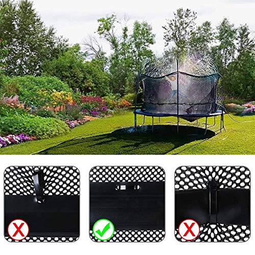 TopHGC Trampoline Sprinklers, Waterpark for Kids, Outdoor Water Play Sprinklers for Fun Summer - Shoppersbase