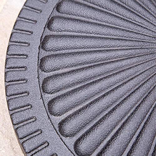 garden mile® Black 15kg Round Parasol Base Garden Outdoor Parasol Holder Decorative Patio Furniture Accessory Umbrella Strong Stable Durable - Shoppersbase