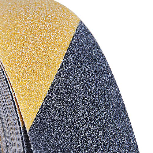 33ft X 2inch Non Slip Safety Grip Tape for Stairs Steps, ONTWIE Non Skid Tread High Traction Friction/Strong Grip Abrasive Adhesive Hazard Caution Tape - Black/Yellow - Shoppersbase