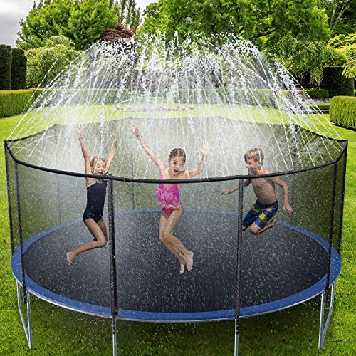 Ohuhu Trampoline Sprinklers for Kids, Trampoline Spray Water Park, Summer Outdoor Water Game Toys, Trampoline Accessories for Boys Girls Summer Fun - 15m - Shoppersbase