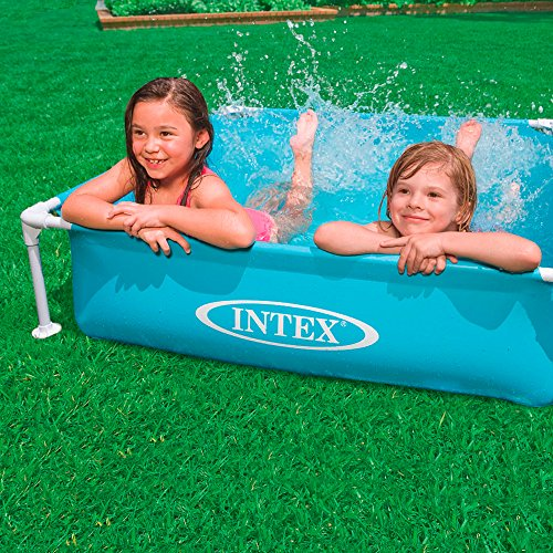 Intex - mini frame pool - Blue 122 x 122 cm - Shoppersbase