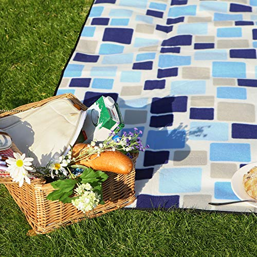 SONGMICS Outdoor Picnic Blanket, Water-Resistant Mat, Multifunctional Beach Blanket, for Camping, Hiking, Foldable and Lightweight, 200 x 200 cm, GCM71L - Shoppersbase