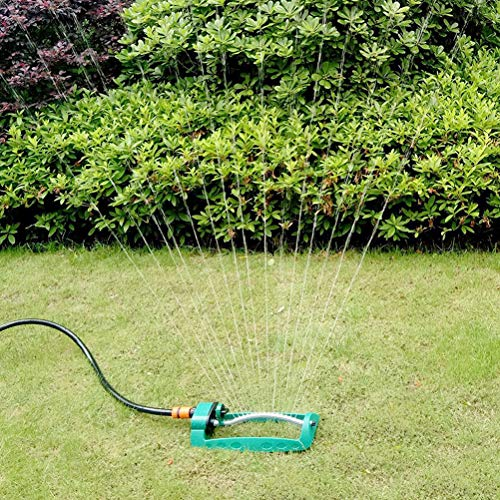 Yardwe Lawn Sprinkler 15-Hole Water Sprinkler Automatic Swaying Garden Sprinkler (Green) - Shoppersbase