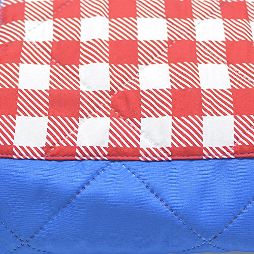 TEQStone Washing Machine Safe Picnic Blanket with Water Resistant Backing 200 x 150 cm Red Check - Shoppersbase