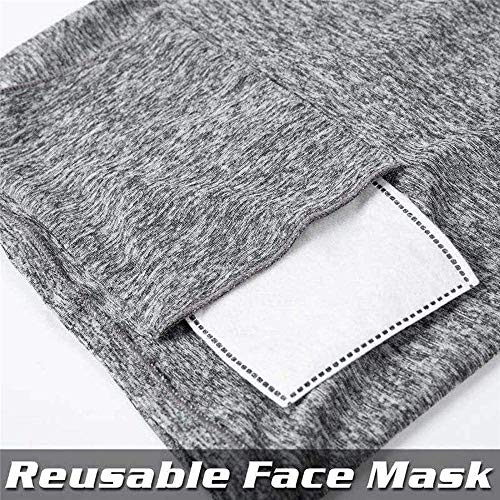 Powerdelux 2PCS Neck Gaiter Bandana Face Scarf with 15PCS Filters Sun Protection Cool Lightweight Breathable Dust-proof for Fishing Hiking Running Cycling - Shoppersbase