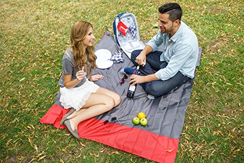 Premium Ultra-Compact Waterproof Picnic Blanket, Beach Blanket, 167cmx143cm - Lightweight, Folds Easily, Sand Proof - Beach Mat with Loops & Sand Pockets| Outdoors Camping Travel Backpack Hiking. - Shoppersbase