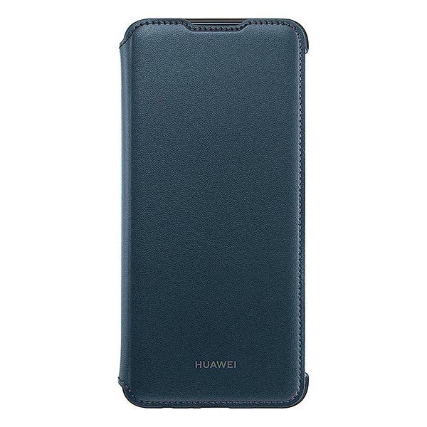Folio Mobile Phone Case Huawei Y7 2019 Flip Cover Blue - Shoppersbase